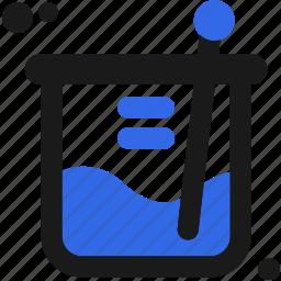 create, design, experimental, laboratory, measure icon