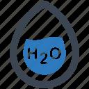 water, h2o, formula icon
