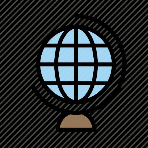 earth, education, geography, globe, school, toy, world icon