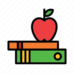apple, book, books, college, education, school icon