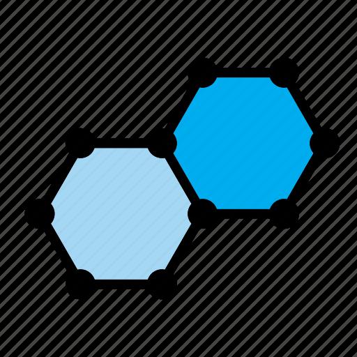 atom, benzene, carbon, chemistry, molecular, molecule, science icon