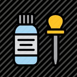 baster, bottle, dropper, jar, medication, medicine, science icon