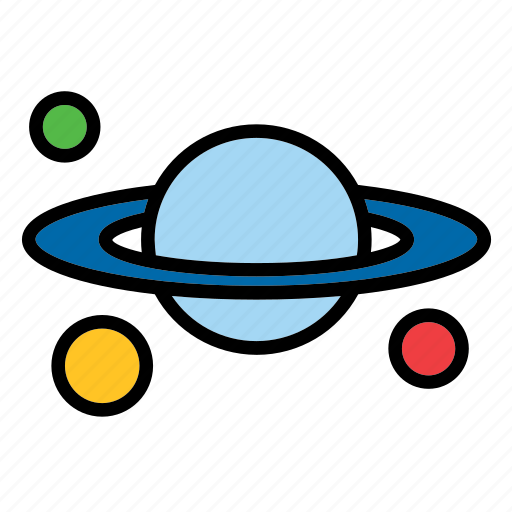 cosmos, planet, saturn, science, solar system, universe icon