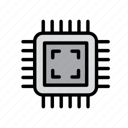 chip, computer, cpu, hardware, microchip, processor, technology icon