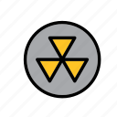 hazard, hazard symbol, radiation, radioactive, radioactivity, sign, warning icon