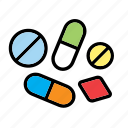 medication, medicine, pill, pills, science, tablet icon