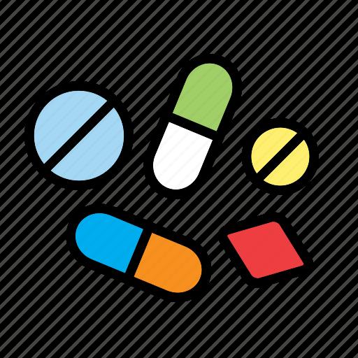 medication, medicine, pill, pills, science, tablet icon