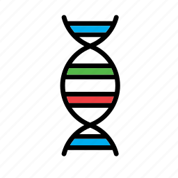 atom, dna, genetics, molecular, molecule, science icon