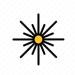 science, space, star, sun icon