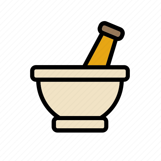 equipment, lab, laboratory, mortar, pestle, science, tool icon
