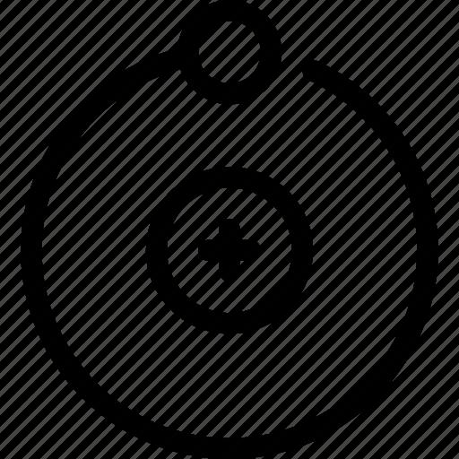 cell, molecule, proton, science icon