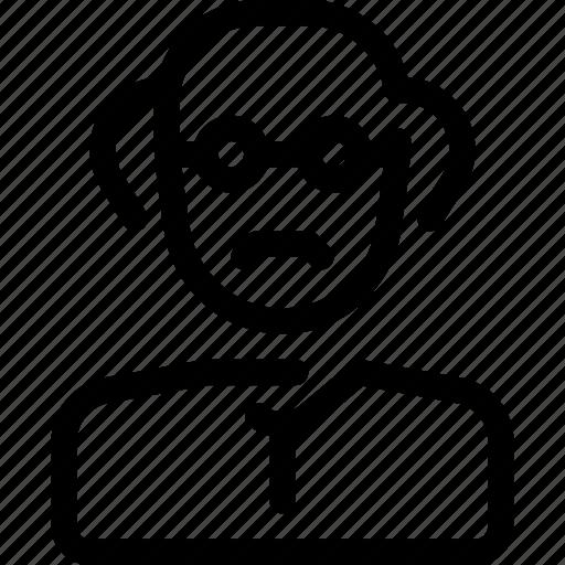 professor, profile, researcher, science, scientist icon