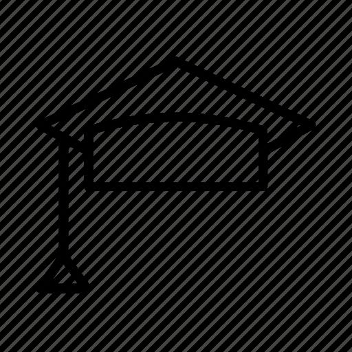 cap, college, education, graduation, hat, mortarboard icon