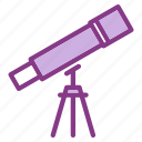 chemistry, lab, laboratory, research, science, telescope icon
