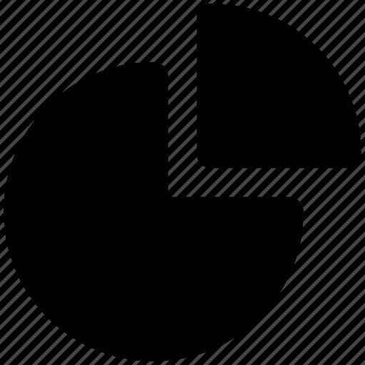 analytics, chart, graph, pie chart, pie graph, round chart icon