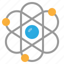 atom, biology, genetic, science icon