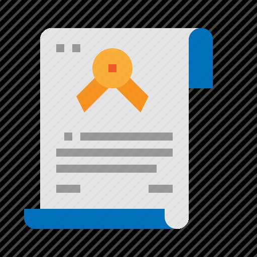 certificate, certification, guarantee, testimonial icon