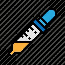 dropper, healthcare, medical, pipette icon