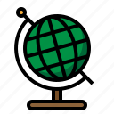 earth, globe, learning, science icon