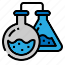 chemistry, flasks, physics, science icon