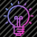 creativity, idea, innovation, lightbulb, science icon