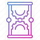 hourglass, management, schedule, science, time icon