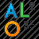 aluminium, chemistry, compound, oxide, science icon