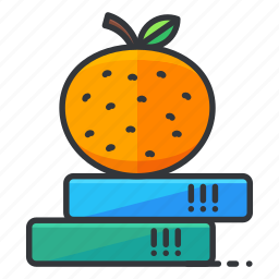 books, education, fruit, science, study icon