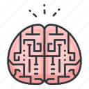 brain, education, neurology, neuroscience, science icon