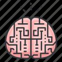 brain, education, neurology, neuroscience, science icon