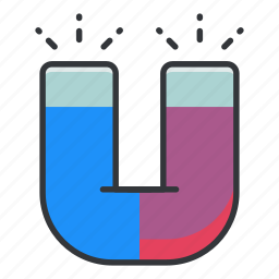 chemistry, lab, laboratory, magnet, magnetism, science icon