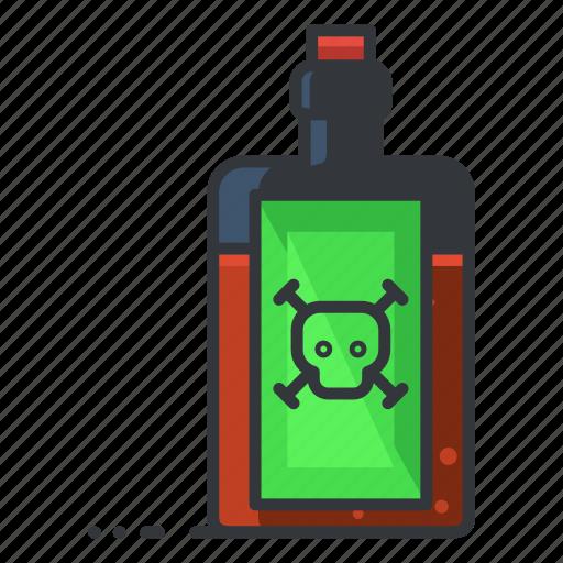 bottle, chemistry, danger, poison, science icon