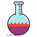 lab, laboratory, round, science, test, tube icon