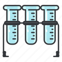 chemistry, flasks, lab, laboratory, science, test, tube icon