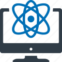 physics, science, research, atom icon