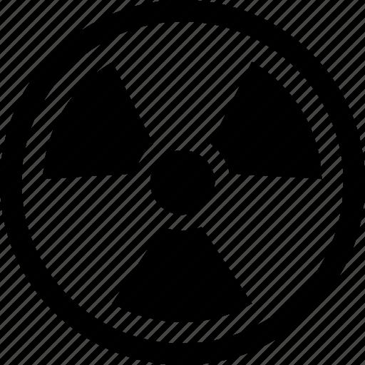 energy, nuclear, radiation, radioactive, unsable, warning icon