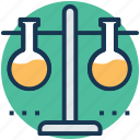 chemical laboratory, laboratory, laboratory glassware, test flask, test tube icon