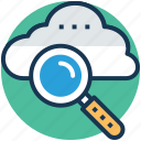 cloud computing, cloud magnifying, cloud service, cloudsearch, internet cloud icon