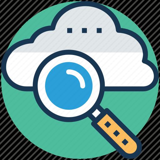 cloud computing, cloud magnifying, cloud service, cloudsearch, internet cloud icon