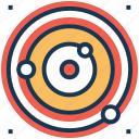 orbit, planetary system, planets orbiting, solar system, sphere icon