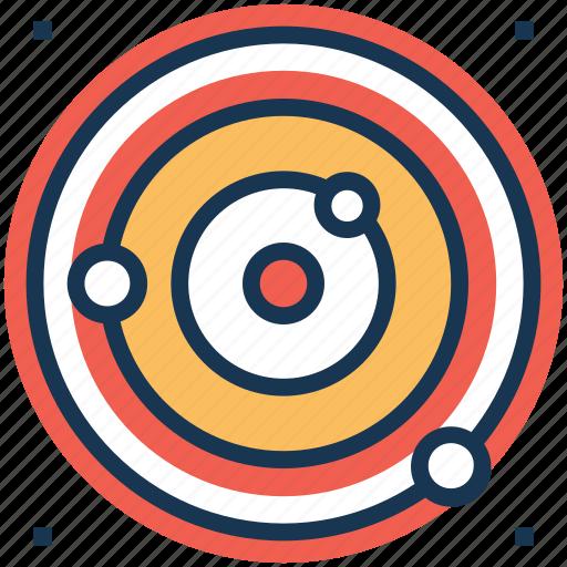 orbit, planetary system, planets orbiting, solar system, sphere icon