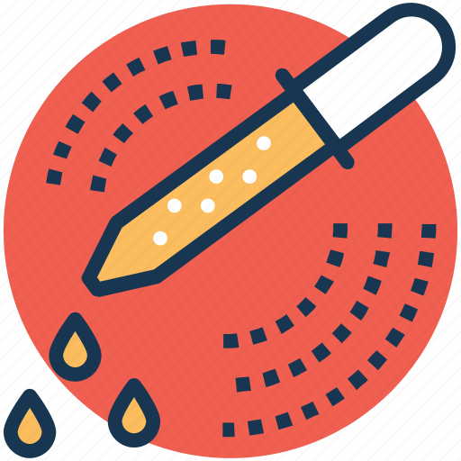 chemical test, medicine dropper, microbiology, pipette dropper, scientific research icon