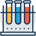 chemical flask, erlenmeyer flask, lab flask, lab glassware, test tube icon