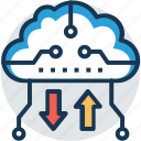cloud backup, cloud computing, cloud storage, online backup, online storage icon