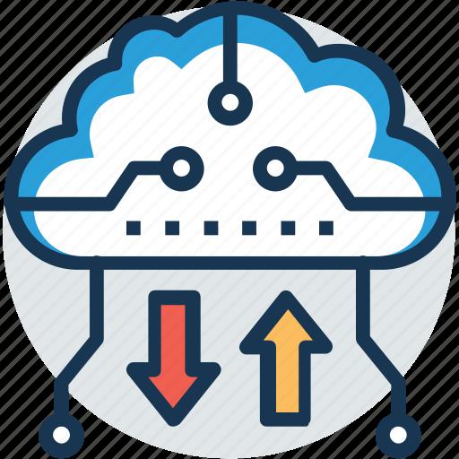 cloud backup, cloud computing, cloud storage, online backup, online storage icon