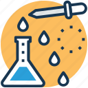 chemical test, medicine dropper, microbiology, pipette dropper, scientific research icon