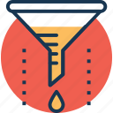 chemical analysis, chemical funnel, chemical laboratory, filter, funnel icon