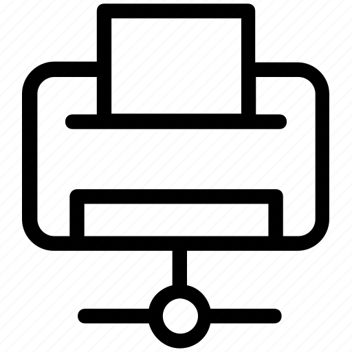 facsimile, network printer, networking, printer, printer sharing icon