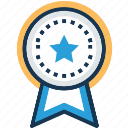 award, medal, medallion, prize, ribbon badge icon