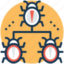 anti-spam techniques, bug fixing, hacker activity, spam management, url filtering icon